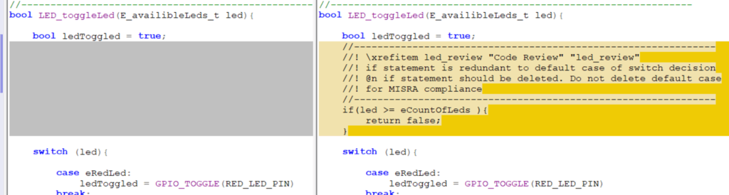 Code Review Diff
